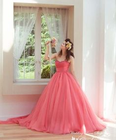ウエディングドレスショップ シンデレラ(Wedding Dress Shop Cinderella) キャンディピンクが印象的なカラードレス SS4187CP