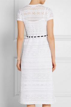 REDValentino | Crocheted cotton midi dress | NET-A-PORTER.COM