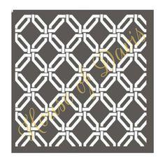 Octagon Lattice Stencil 12x12 by HouseofDavis on Etsy
