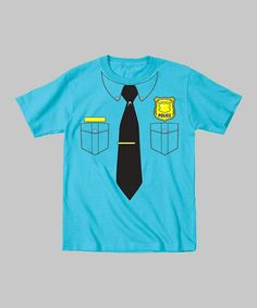 Take a look at this Turquoise Police Officer Bodysuit - Toddler & Kids by Tuxedo Tees on #zulily today!