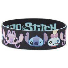 Disney Lilo Stitch Character Faces Rubber Bracelet Hot Topic