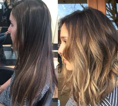 before & after (ombre)