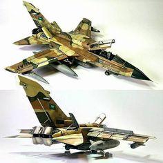 "Beautiful!!! ""Panavia Tornado RSAF 1/48 Revell"". Modeler Paulo Bettinelli #scalemodel #plastimodelismo #miniatura #miniature #maqueta #maquette #modelismo #modelism #modelisme #miniatur #scalemodelkit #revell #hobby #diorama #plasticmodel #plastimodelo #plastickits #usinadoskits #udk Tornados, Aircraft Propeller, Real Model, Military Modelling, Aircraft Design, Aviation Art, Model Airplanes, War Machine, Plastic Models"