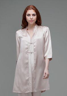 Silk women nightwear robes--Khaki robes #Silk #robes | Revesilk.com