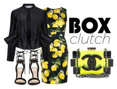 lemonade box by senciti on Polyvore featuring Dolce&Gabbana, Victoria, Victoria Beckham, ALDO, Chanel, women's clothing, women's fashion, women, female, woman and misses