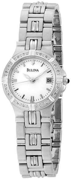41a49b27a3fa Amazon.com  Bulova Women s 96R04 Diamond Accented Watch  Bulova  Watches