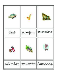 Fichas de vocabulario en imágenes | Escuela en la nube | Recursos para Infantil y Primaria Flashcard, Microsoft Word, Teaching Resources, Vocabulary Games