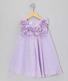 Look at this #zulilyfind! Lilac Rosette Dress - Infant, Toddler Girls by Sophia Young #zulilyfinds