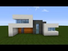 Minecraft Simple & Easy Modern House Tutorial / How to