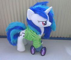 My little pony FIM plush - Dj pony vinyl scratch custom minky plushie hoodie $127.50