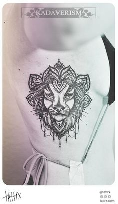 Kadaverism Tattoo - Lion for Nina I really like this one!