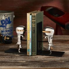 The motors for these fun set of Aluminum Outboard Motor Bookends were very true to the full-sized originals and always painted in the mod colors of the day. Cast Iron, It Cast, Lakeside Living, Color Of The Day, Beach Reading, Outboard Motors, The Borrowers, A Team, Bookends