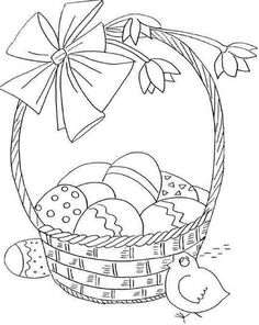 Spring Coloring Pages, Easter Coloring Pages, Colouring Pages, Coloring Sheets, Coloring Books, Free Motion Embroidery, Embroidery Patterns, Laura Rodrigues, Easter Egg Template
