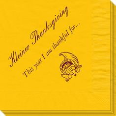 I Am Thankful Napkins