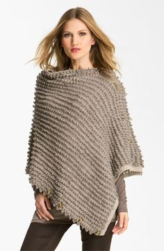 Weekend Max Mara 'Arezzo' Convertible Scarf [A versatile rectangular has two sets of buttons that convert it from scarf to wrap to poncho. Looped yarns give the soft sweater knit a plush, striped texture] ...must make