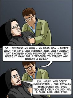Give the man a fedora...: This Hilarious Harry Potter Comic Shows Why Snape Always Sucked