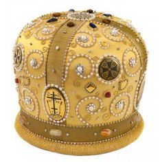 Embroidered mitre. $1,090.00, catalog of St Elisabeth Convent…