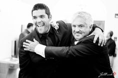 The Groom and his father picture. Right before they walk done the aisle and see the bride for the first time!