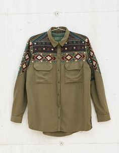 BSK embroidered shirt. Discover this and many more items in Bershka with new products every week