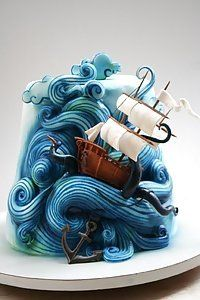 Stormy Sea | Extraordinary Cake Designs That Will Make Your Mouth Water - #foodart