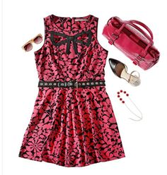 Lauren Conrad sleeveless skater #dress with cut out bow. Along with the accessories to match at #Kohls #WinkOfPink