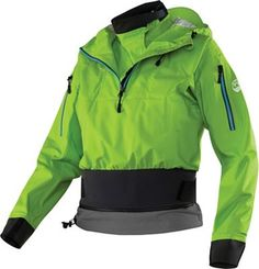 FEATURES of the NRS Women's Riptide JacketUltimate women's splash jacketStretchy, adjustable urethane neck closurePunch-through neoprene wrist gasketsArticulated storm hood with three adjustmentsKayak overskirt joins with spray skirt to seal co Snowboard Equipment, Ski And Snowboard, Kayak Outriggers, Bike Shipping, Bike Brands, Spring Green, Summer Sale, Outdoor Gear, Motorcycle Jacket