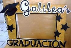 "Graduation Party Photo Booth Selfie Frame Personalized 40""x29"""