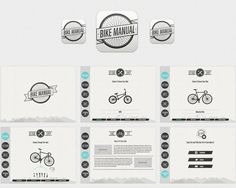 Bike Manual App Design by Ben Fearnley, via Behance Web Design, Layout Design, Graphic Design, Interface Design, User Interface, Ipad App, App Ui, Ui Ux, Brochure Layout