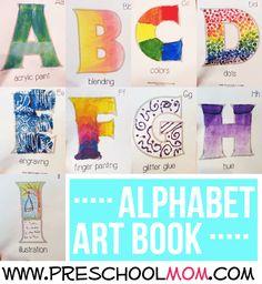 alphabet art terms book
