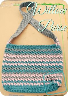 Willow Purse, a free crochet pattern by DivineDebris.com ༺✿ƬⱤღ✿༻