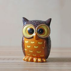 Fab.com | Ceramic Owl Coin Bank $45 SOLD