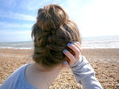 french plait top knot