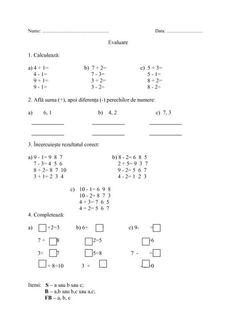 fise matematica dificultate ridicata 5-7 ani   Cu Alex la gradinita School Lessons, Math Lessons, Math For Kids, Kids Education, Human Body, Worksheets, Classroom, Math Equations, Women's Fashion