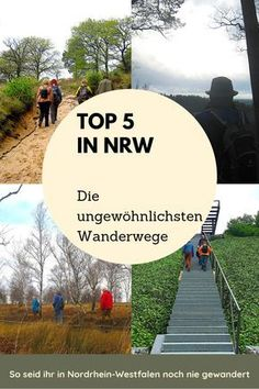 TOP 5 - the most unusual hiking trails in NRW - Would you like to combine your NRW hikes with very special experiences? How about a wine trail in t - Camping And Hiking, Hiking Trails, Overnight Summer Camps, Wooden Walkways, Walking Barefoot, Pacific Crest Trail, Colorado Hiking, Love Garden, Appalachian Trail