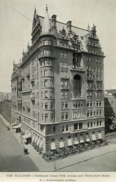 Waldorf Astoria Hotel, New York City, shortly after opening, 1893 Astoria New York, Astoria Hotel, Vintage New York, Old Pictures, Old Photos, Waldorf Astoria, Paris Ville, Upstate New York, Old Buildings