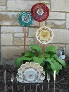 vintage glass flowers... I have done a couple of these and LOVE them