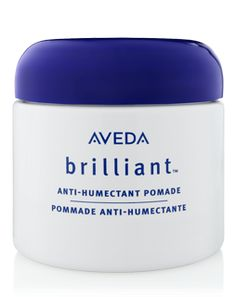 Frizz Fighter  If you have coarse or curly hair, always finish styling your freshly-straightened look with AVEDA's BRILLIANT ANTI-HUMECTANT (for humid weather). This will prevent frizz all-day long, as well as infuse a healthy amount of shine.