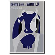 Printed Canvas Art Vintage Beurre Sain by Vin... – USD $ 34.99 lightinthebox.com