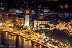 GREECE CHANNEL | Zakynthos-Town with St. Dyonisios Church @ Night  Picture: Nikos Pomonis