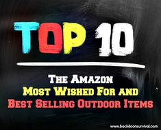 Amazon Most Wished For and Best Selling Outdoor Items