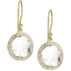 Ippolita Mini Lollipop Diamond Earrings ($1,900) ❤ liked on Polyvore featuring jewelry, earrings, diamond earrings, diamond jewellery, 18 karat gold jewelry, 18k diamond earrings and clear crystal jewelry