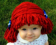 Raggedy ann wig Halloween Costume Baby wig baby costume by YumbabY