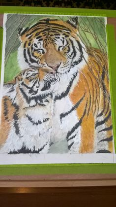 mothers love  in colour pencil