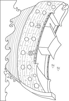 Noahs Ark colouring page free printable Drawing Pinterest