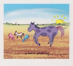 + John Lennon, ''a horse laughing''