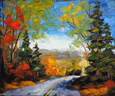 Promenade D'Amour - painting by Robert LeClerc at Crescent Hill Gallery