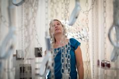 The duo created a huge, hanging installation made from chains and Methven shower heads. Shower Heads, Tie Dye, Tops, Design, Women, Fashion, Showers, Moda, Fashion Styles