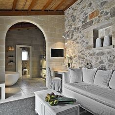 The Relais Masseria Capasa Hotel was completed in 2013 by the Porto Viro based designer Paolo Fracasso. This beautifully styled hotel was built with natural House Design, House, Interior Architecture Design, Beautiful Interiors, Home Remodeling, House Styles, House Interior, Home Interior Design, Rustic Interiors