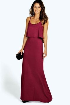cc95ed77b85 Boohoo Tie Back Maxi Dress Plum Size UK 6 DH180 WW 05  fashion  clothing