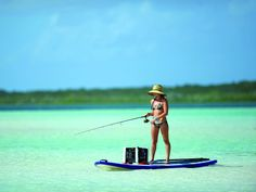 Paddle boarding and fishing combination. Photo by Big Pine Key Fishing Lodge CC BY Paddle boarding and Sup Fishing, Crappie Fishing Tips, Fishing Girls, Fishing Life, Gone Fishing, Best Fishing, Saltwater Fishing, Fishing Tricks, Bikini Fishing